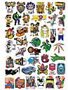 Klistermärken och dekaler Skateboardklistermärke 20.0*18.0*0.5 cm Tränare för skateboards Plast 50 pack