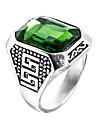 Bărbați Sintetic Emerald Inel - Zirconiu, Smarald Design Unic, Modă, Euramerican 6 / 7 / 8 Verde Pentru Nuntă / Ocazie specială / Aniversare