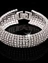 Pentru femei Brățară/Brățară rigidă Bratari de tenis Cristal Manşetă Lux De Bază Elegant Diamante Artificiale Aliaj Bijuterii Pentru