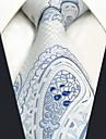 Bărbați Imprimeu Paisley Toate Sezoanele Vintage Draguț Petrecere Birou Casual Cravată Alb