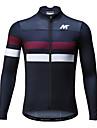 Mysenlan Heren Lange mouw Wielrenshirt - Donkerblauw Fietsen Shirt Ademend Sneldrogend Sport Polyester Bergracen Wegwielrennen Kleding