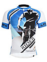 ILPALADINO Homme Manches Courtes Maillot Velo Cyclisme Cyclisme Maillot Hauts / Top Sechage rapide Resistant aux ultraviolets Bandes Reflechissantes Des sports Polyester Coolmax® Ecologique Polyester