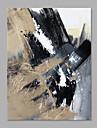 Peint a la main Abstrait Format Vertical, Style moderne Toile Peinture a l\'huile Hang-peint Decoration d\'interieur Un Panneau