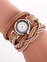 Pentru femei Unic Creative ceas Ceas Casual Ceas La Modă Ceas Brățară Quartz PU Bandă Charm Lux Vintage Creative Casual Cool Elegant