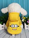 Câine Hanorca Îmbrăcăminte Câini Desene Animate Mov Galben Rosu Albastru Lână Bumbac Costume Pentru animale de companie Casul/Zilnic