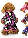 Katt Hund Kappor T-shirt Tröja Hundkläder Fest Ledigt/vardag Håller värmen Hjärtan Svart Fuchsia Blå