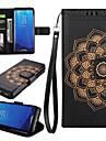 Maska Pentru Samsung Galaxy S8 Plus S8 Titluar Card Portofel Cu Stand Întoarce Carcasă Telefon Mandala Greu PU piele pentru S8 Plus S8 S7