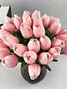 10 Gren PU Verklig beröring Tulpaner Bordsblomma Konstgjorda blommor