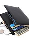 Bărbați Genți PU Clip Bani pentru Cumpărături / Zilnic Negru / Albastru Închis / Cafeniu Închis