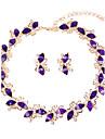 Pentru femei Seturi de bijuterii Seturi de bijuterii de mireasă Colier / bratara Ștras Clasic Euramerican stil minimalist Modă Nuntă