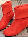 Damă Pantofi Blană Primăvară Confortabili Cizme Pentru Casual Negru Maro Rosu