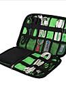 Bagageorganisatör Vattentätt fodral Bärbar Stor kapacitet Multifunktion Packpåsar för Mobiltelefon USB-kabel Kläder Nylon 22.6*15.7*3.6cm