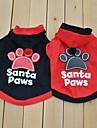Hund Dräkter/Kostymer T-shirt Hundkläder Bokstav & Nummer Svart Röd Cotton Kostym För husdjur Cosplay