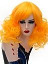 Syntetiska peruker / Kostymperuker Lockigt Syntetiskt hår Blå / Blond / Rosa Peruk Dam Korta Naturlig peruk / Partyperuk / Halloween Paryk