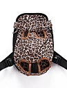 Chat Chien Sac de transport Sac a dos avant Dog Paquet Animaux de Compagnie Transporteur Portable Respirable Ajustable / Reglable Leopard Mignon Leopard