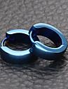 Bărbați Cercei Rotunzi  Bijuterii De Bază Teak Circle Shape Bijuterii Auriu Negru Albastru Închis Gri Roz auriu Nuntă Petrecere Scenă