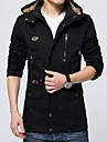 Bărbați Capișon Mărime Plus Size Lung Jachetă Zilnic Vintage,Mată Iarnă Toamnă Bumbac Poliester