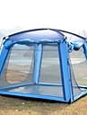 Trackman® 4 איש אוהל עם הצללה אוהל בית עם הצללה חיצוני מוגן מגשם עמיד לאבק מתקפל שכבה בודדה קמפינג אוהל 1500-2000 mm ל מחנאות וטיולים חוץ ניילון פוליאסטר טאפטה