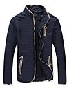 Bărbați Stand Jachetă Casul/Zilnic Simplu,Mată Manșon Lung Toamnă-Regular Altele