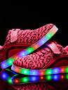 Fete Adidași Confortabili Pantofi Usori Tul Primăvară Vară Toamnă Iarnă Casual Plimbare Dantelă LED Toc Jos Negru Albastru Roz Sub 2.5 cm