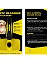 Pisici Câine Seturi de Îngrijire Curăţare Piepteni Ajustabile / Retractabil Masaj Galben