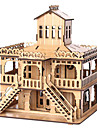 3D Puzzle Jigsaw Puzzle Wooden Puzzle Famous buildings House Wooden Natural Wood Unisex Boys\' Girls\' Toy Gift