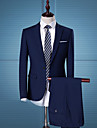 Bărbați Rever Clasic Regular Costume Zilnic Muncă Afacere Simplu Casual Șic Stradă, Mată Primăvară Toamnă Poliester