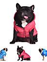 Hund Kappor Huvtröjor Väst Hundkläder Enfärgad Grå Röd Blå Cotton Kostym För husdjur Herr Dam Unisex Ledigt/vardag Håller värmen Mode Hög