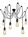 Vintage mai multe capete reglabil diy tavan pandantiv pandantiv de iluminat camera de zi sala de mese chandelier creative păianjen