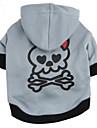 Chat Chien Pulls a capuche Vetements pour Chien Mode Cranes Gris/Rouge Noir/Gris Costume Pour les animaux domestiques