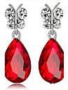 Pentru femei Cercei Picătură imitație de safir imitație de diamant La modă Aliaj Picătură Bijuterii Pentru Petrecere Zi de Naștere Zilnic