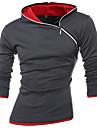 Bărbați Hanorac cu Glugă Activ Boho Sport Casul/Zilnic Plus Size Bloc Culoare Bumbac Elastic Manșon Lung Toamnă Iarnă