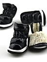 Câine Pantofi & Cizme Keep Warm Cizme de Zăpadă Mată Negru Mov Fucsia Rosu Albastru Pentru animale de companie