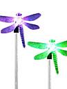 4stk rostfritt stål 1-ledad solgräslampa gångväg trädgårdslampa
