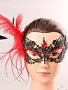 Europa och amerikansk stil elegant kvinna svart spets fjäril cryastal tofs mask kvinnlig kostym fest kväll halv block mask