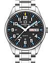 Carnival Bărbați Ceas Elegant Ceas La Modă Ceas de Mână Quartz Calendar Rezistent la Apă Luminos Oțel inoxidabil Bandă Charm Casual Argint