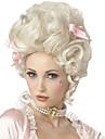 Syntetiske parykker / Kostumeparykker Krøllet Kardashian Stil Lågløs Paryk Hvid Hvid Syntetisk hår Marie Antoinette Dame Hvid Paryk Medium Længde StrongBeauty