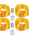 20m Fâșii de Iluminat 200 LED-uri Alb Cald / Alb / Multicolor Telecomandă / Intensitate Luminoasă Reglabilă / Rezistent la apă <5 V / IP65 / Schimbare - Culoare