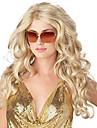 Syntetiska peruker Vågigt Densitet Utan lock Dam Blond Cosplay Peruk Lång Syntetiskt hår