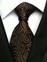 Bărbați Imprimeu Toate Sezoanele Fulare Cravată Negru