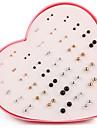 Pentru femei Cercei Stud Imitație de Perle Modă stil minimalist Imitație de Perle Argilă Placat Auriu Rotund Bijuterii Curcubeu Zilnic