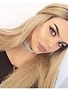 Syntetiska peruker Rak Densitet Utan lock Blond Naturlig peruk Lång Syntetiskt hår