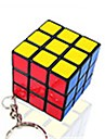 cubul lui Rubik Cub Viteză lină Cuburi Magice Breloc Smooth Sticker Plastice Pătrat Cadou