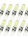 10pcs 2 W 150 lm G4 Becuri LED Bi-pin T 2 LED-uri de margele COB Decorativ Alb Cald / Alb Rece 12 V / 10 bc / RoHs