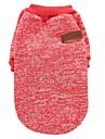 Katt Hund Kappor T-shirt Tröja Hundkläder Fest Ledigt/vardag Håller värmen Sport Enfärgad Kaffe Röd Grön Blå Rosa Kostym För husdjur