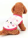 강아지 조끼 강아지 의류 카툰 화이트 / 옐로우 / 핑크 Flanellikangas 코스츔 애완 동물 캐쥬얼 / 데일리
