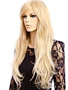 Syntetiskt hår peruker Rak Utan lock Naturlig peruk Lång Blond