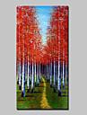 HANDMÅLAD Landskap Vertikal, Abstrakt Moderna Duk Hang målad oljemålning Hem-dekoration En panel
