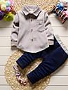 Bebelus Băieți Exterior Interior Școală Casul/Zilnic 纯色 Set Îmbrăcăminte Toate Sezoanele