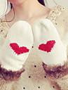 Damă Jacquard Iarnă Casual Mănuși de Iarnă Keep Warm Modă Îmbrăcăminte tricotată Blană de Iepure Acrilic Împletit,Lungime Încheietură